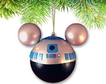 Large Mickey-shaped Ornament-R2D2 (Star Wars Collection)