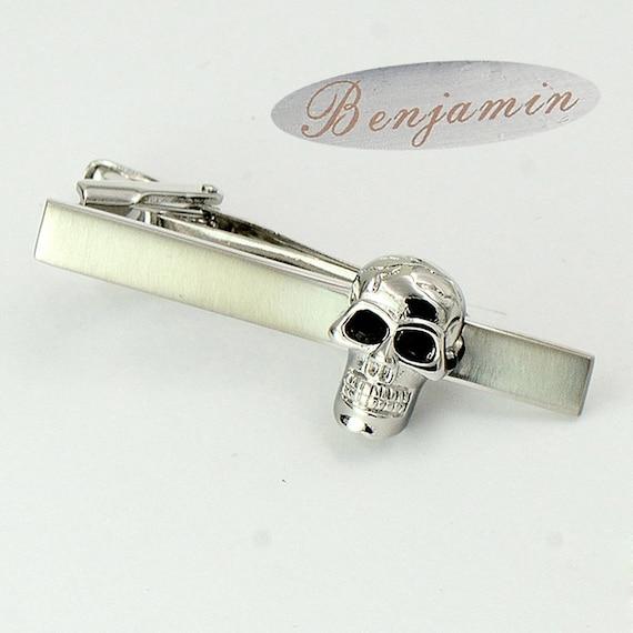 personalized tie bar Novelty tie tack skeleton tie bar skeleton tie clip victorian Halloween tie clip