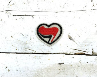 Antifa Heart Sew On Patch