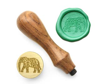 Elephant with Patterns - Design OD Wax Seal Stamp (DODWS0305)