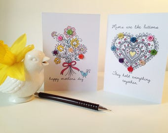 Mothers Day Button Cards