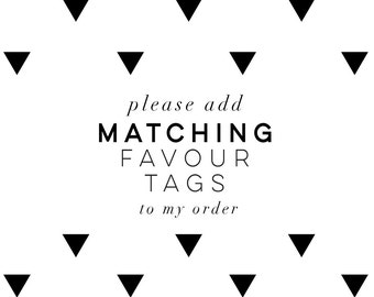 Favour Tags | Coordinating Favor Tags