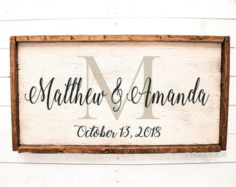 Personalized Wedding Gift | Personalized Sign | Personalized Rustic Wood Sign | Custom Wedding Home Decor | Rustic Wedding Decor | Housewarm