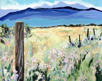 South of Taos, Print from Original Southwest Watercolor Landscape Painting