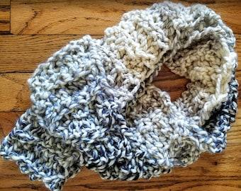 Crochet Gray Infinity Scarf