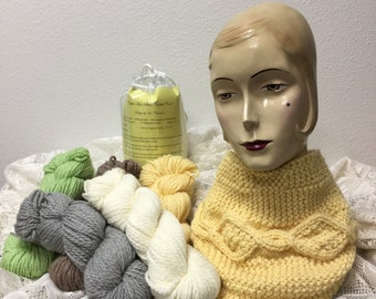 Cable Knitted Cowl Kit