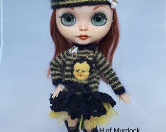 Buzzy Bee Dress & Hat for Blythe