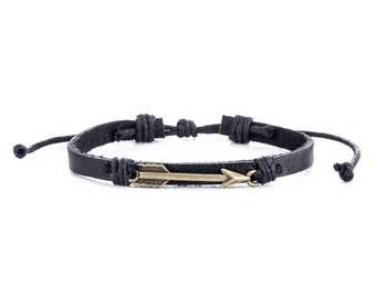 Leather Bracelet For Men // Man Leather Bracelet // Johnny Depp Bracelet // Leather Wristband // Hippy Leather Bracelet