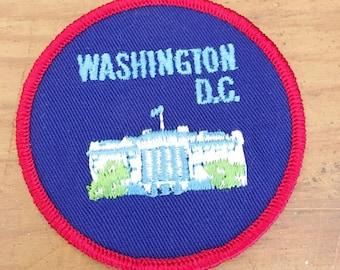 Vintage Washington D.C.    State Patch   Vintage Sew on Patch for Washington D.C.