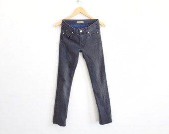 """Rare!!! ACNE STUDIO JEANS Made in Turkey Skinny Jeans Waist 26""""x37""""inches Rare Jean Paul Gaultier Rick Owens Thom Browne"""