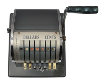 Vintage Paymaster X550 Check Imprinting Machine Check Printer Writer