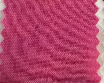 Hot Pink Quilter's Homespun 100% Cotton Fabric 1/2m lengths