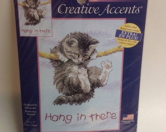 Creative Accents---Hang in there,  Cross Stich kit