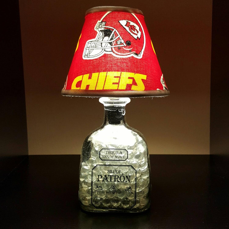 Handmade LED Kansas City Chiefs Vs. Patron Tequila Liquor