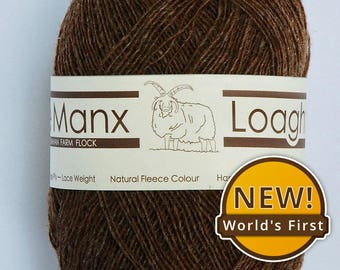 Lace Weight / Single Ply Wool: Rare Native Breed Manx Loaghtan