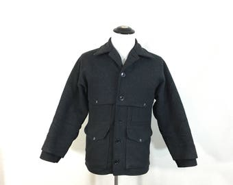 filson double mackinaw 100% wool jacket hunting coat made in usa size 36