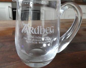Ardbeg Single Malt Whisky Whiskey Water Jug Islay Scottish Distillery Heavy Glass