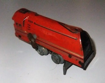 Mettoy locomotive train wind up clockwork toy with track made in Gt Britain