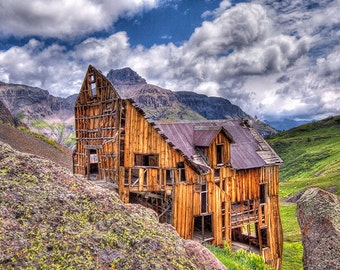 Mountain Top Mine, Ouray, Colorado, Canvas Wrap, Fine Art Photography, SynVisPhotos,Steve Traudt, Wall Art, Home Decor, Ghost Town