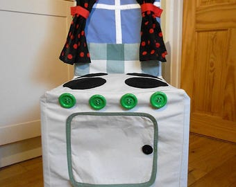 Chair Cover/Play Oven. Cooker Slipcover.  Pretend Play Cover. Made to Measure Kitchen Chair Cover.