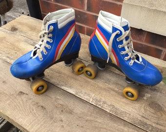 Pair of Vintage children's super retro roller skates