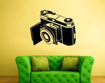 rvz2463 Wall Decal Vinyl Decal Sticker Film Photo Camera Retro Old School