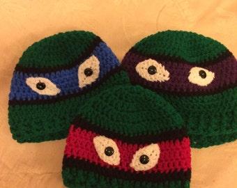 Child's Ninja Turtle hats