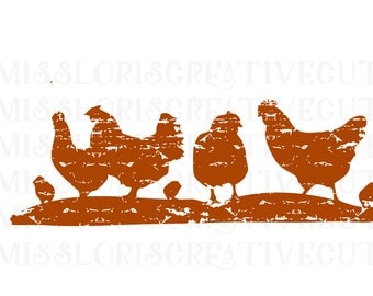 Chicken group  distressed SVG   cut file  t-shirts  animalsscrapbook vinyl decal wood sign cricut cameo Commercial use