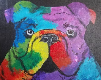 Abstract Bulldog * Prints Only*