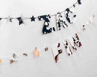 Custom Name / Word Garland - White
