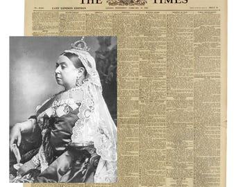 Original Victorian Newspaper