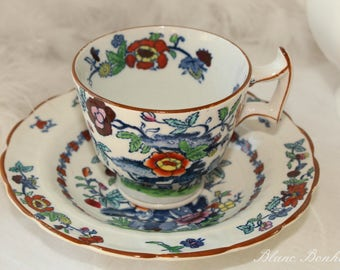 Booths,THE POMPADOUR: set of one demitasse and two saucers