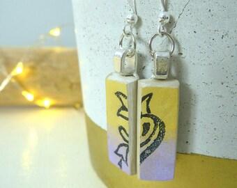 Passus | Women gift | Pastel | Dangle earrings | Boho earrings | Gypsy earrings | Clay earrings | Mother's Day | Handmade