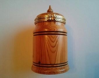 Handmade Yew trinket box