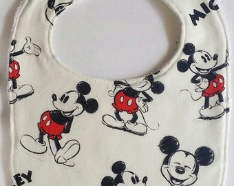 100% Cotton Baby Bib - Mickey Mouse
