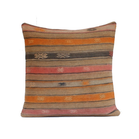 Floor Pillow Covers 25x25 : 24x24 Kilim Pillow Cover Floor Cushion Large Size Floor