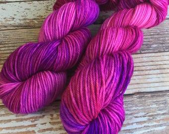 Delia - Cheshire Cat  - Hand Dyed Yarn - 100% SuperWash Merino, Worsted Weight
