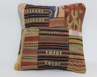 20x20 Decorative Cushion Bohemian Kilim Pillow Throw Pillow 20x20  Bed Pillow Turkish Striped Kilim Pillow Throw Pillow  SP5050-1305