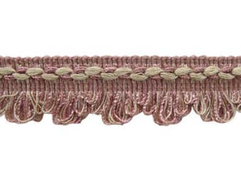 "3 + yds of 1 1/2"" Conso Scalloped Braid - Pink & Beige"