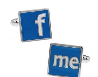 Social Media Cufflinks-k71 Free Gift Box