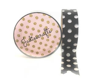 Black & White Large Polka Dot Washi Tape