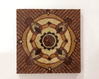 EARTH seed textural painting - Perfect Christmas Gift