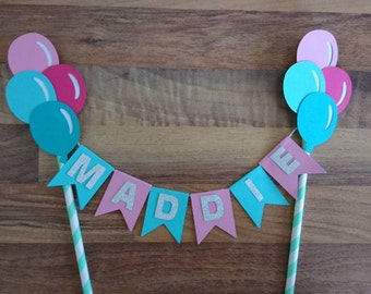Circus cake bunting, Circus Cake Bunting, Circus themed Decoration, First Birthday, Happy Birthday Cake Topper, Carnival Cake Topper