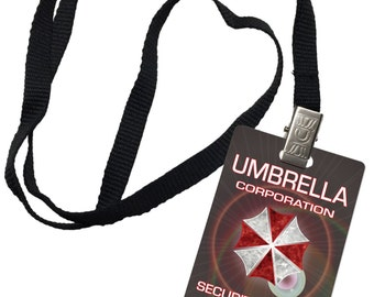 Umbrella Corporation Security Forces Resident Evil Novelty ID Badge Prop Costume 0050