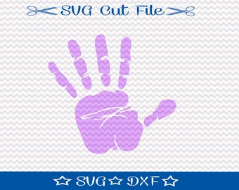Handprint SVG File / SVG Cutting File for Silhouette / Kid Hand svg / Hand Print svg / Hand svg
