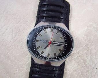 SOVIET POLJOT Stadium USSR rare vintage men's mechanical wristwatch N5