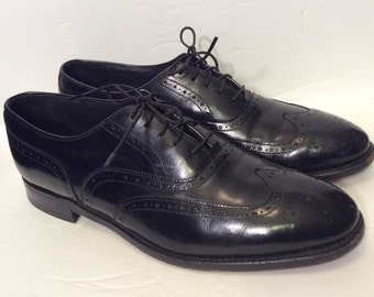 Cordwainer Wright Arch Preserver Leather Blucher 10 C Black Wingtip