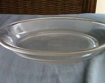 Vintage Glass Pie Plate TM Reg Fire King 460 Pie Plate Flat Edge 9 Inch Fire King Pie Plate Pyrex Glass Pie Plate Vintage Kitchen