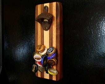 Magnetic Bottle Opener - Walnut & Oak