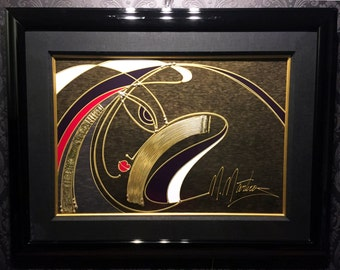 "MARTIROS MANOUKIAN Limited Edition Hand Embellished Serigraph ""Golden Sorrow"", COA"